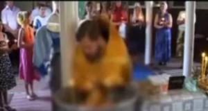 Muere bebé ahogado durante su bautizo