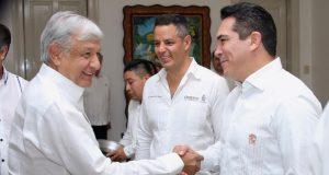 Alejandro Moreno acompaño a AMLO