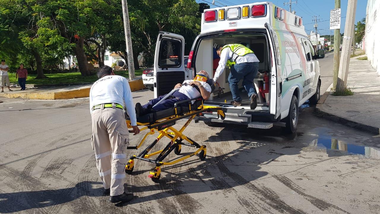 Persona de la tercera edad lesionado